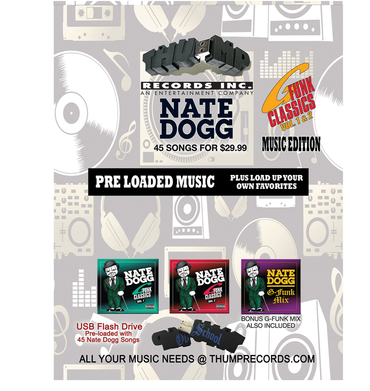 Image of Nate Dogg G Funk Pre-Loaded Music USB
