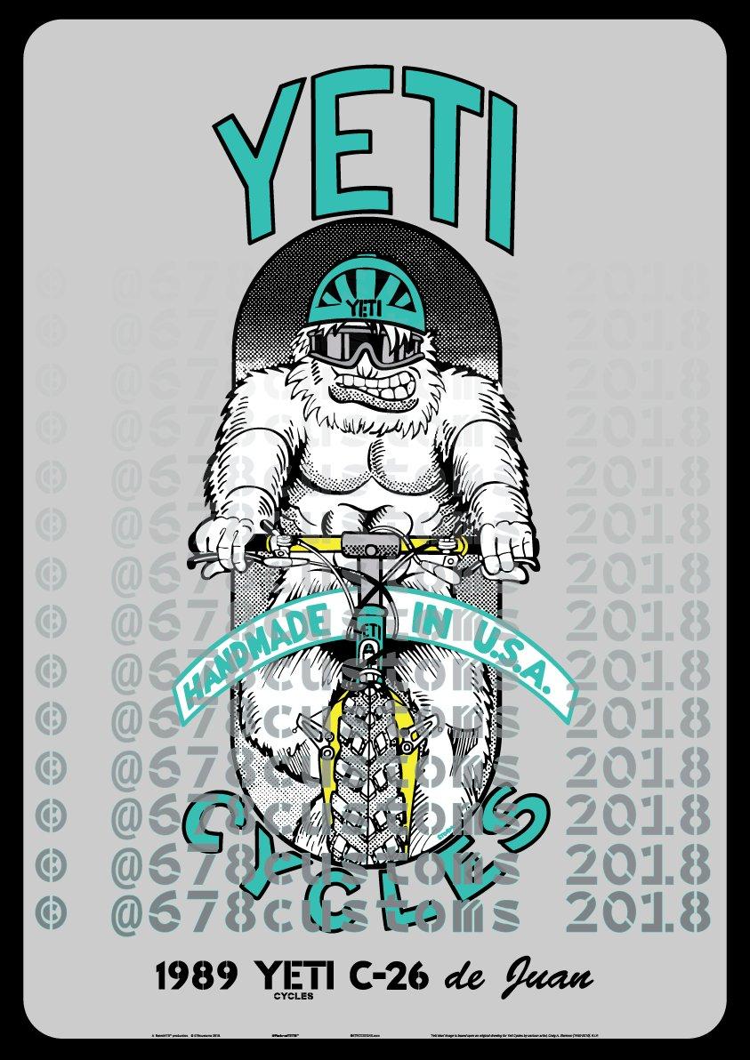 custom yeti man design poster print your colors 678customs