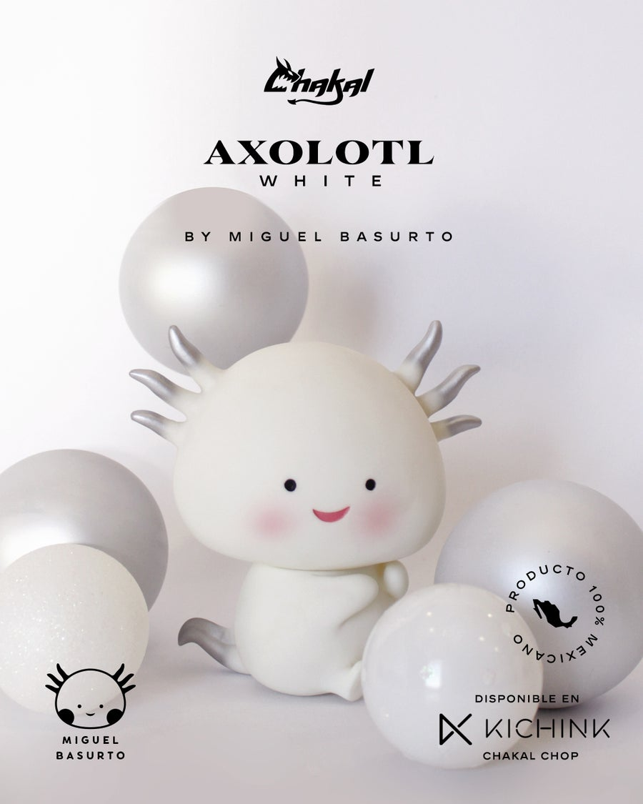 Image of AXOLOTL INDIVIDUAL WHITE OR BLACK