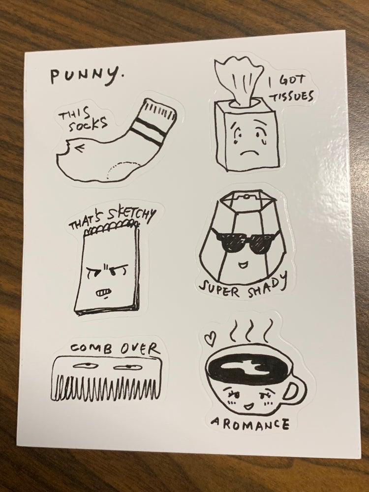 Image of Punny sticker sheet by Shing02