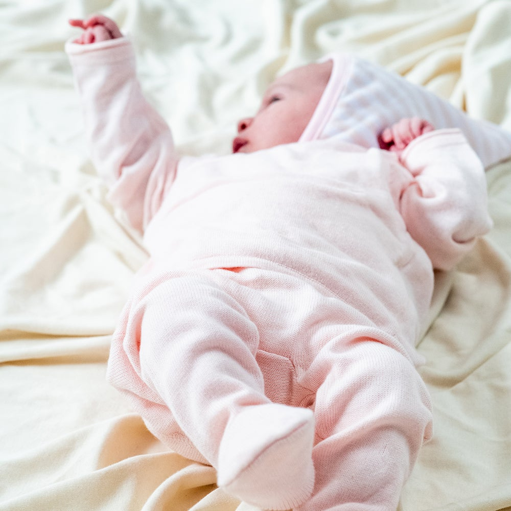 Image of Knitted Welcome Layette . Soft Pink