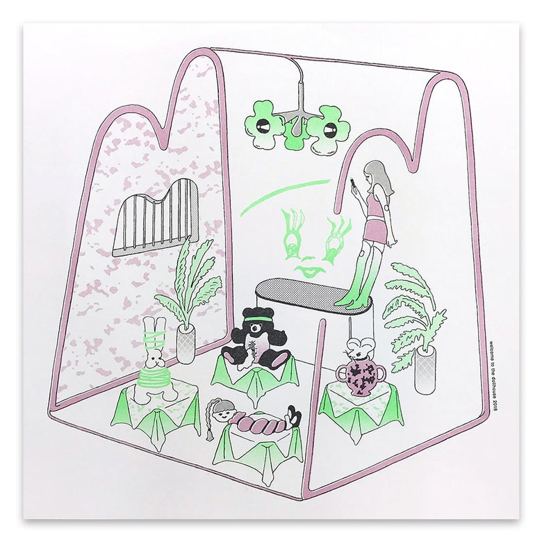 "Image of ancco「WELCOME TO THE DOLLHOUSE RISO print series」""School"""