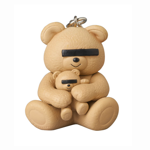 Image of UNDERCOVER × MEDICOM TOY Bear Logo Keychain Beige