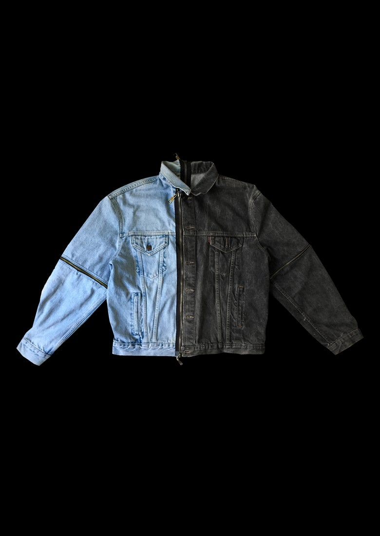Image of DENIM JACKET ZIPPER PILE FACE