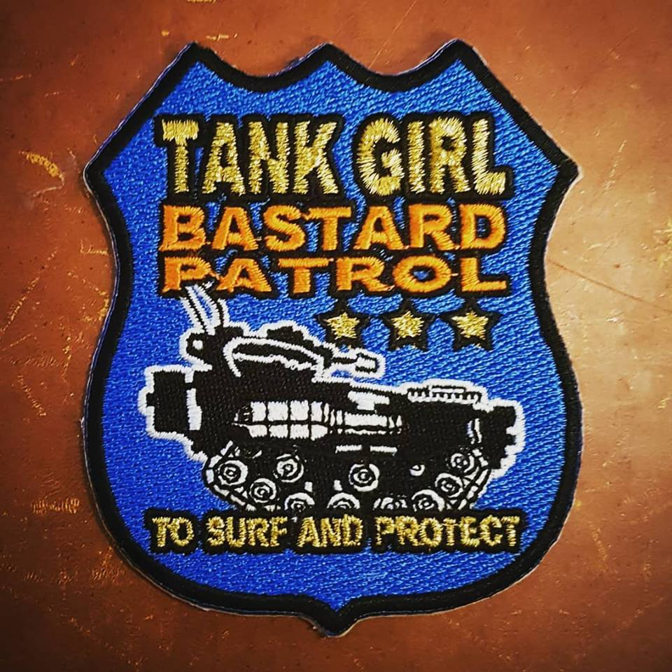 Image of B*stard Patrol Patch (with Tank Girl print)