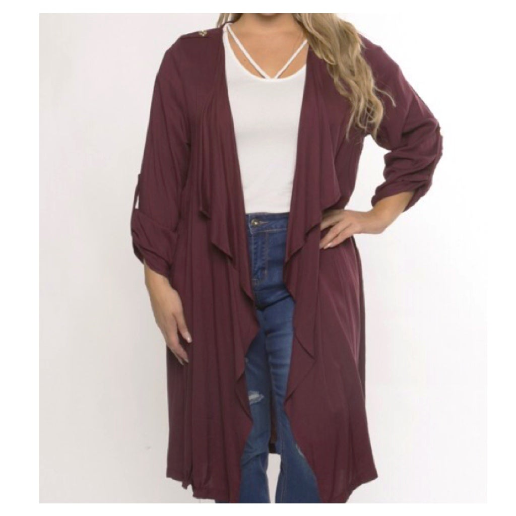 Image of Draped Cardigan Curvy