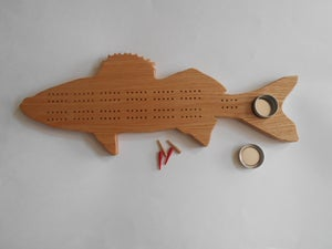 Image of Walleye Cribbage Board