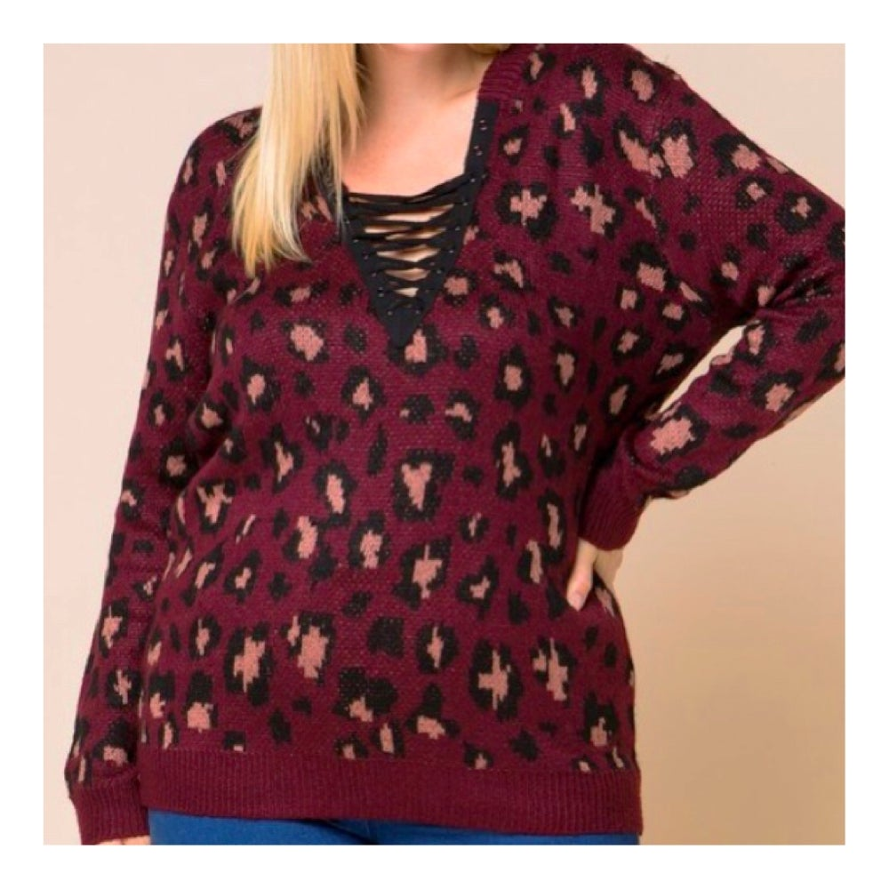 Image of Lace up Sweater