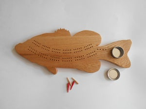 Image of Bass Cribbage Board