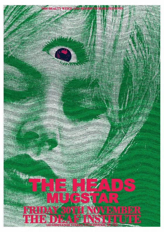 Image of The Heads - High Grade A2 Gig Poster