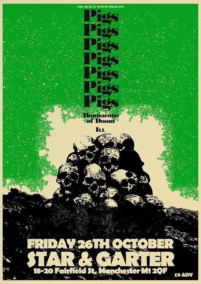 Image of PigsX7 A2 High Grade Gig poster