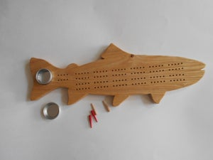 Image of Trout Cribbage Board