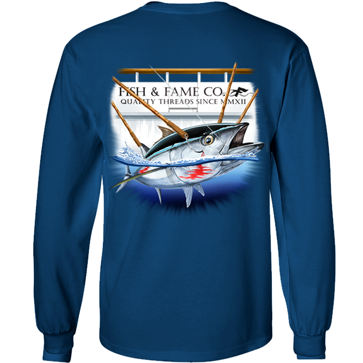 Image of Blue Fin Tuna Long Sleeve (slate blue)