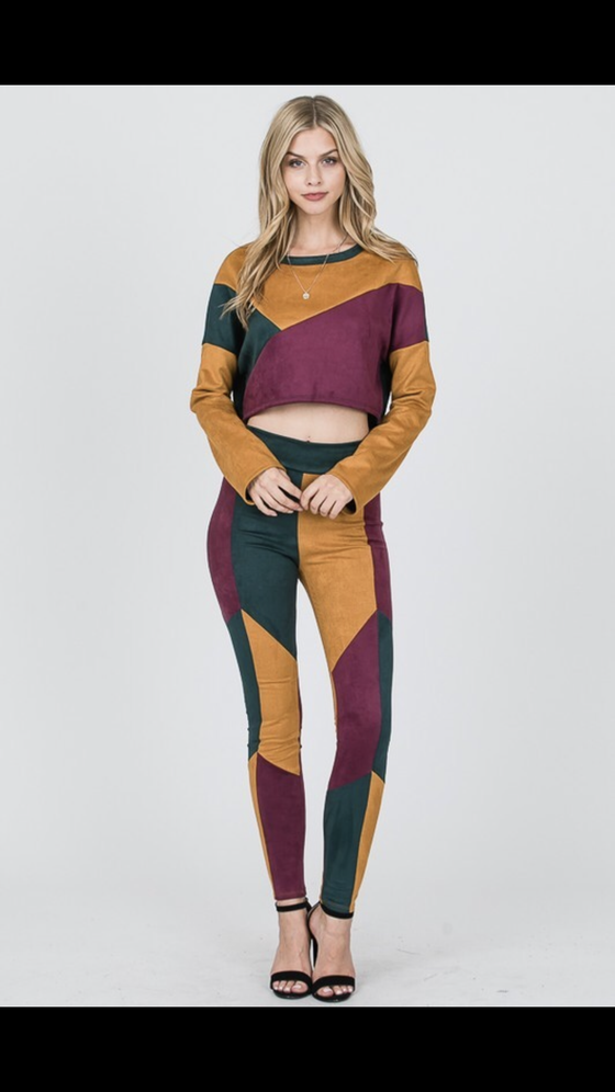 "Image of ""Color Block"" pant set"