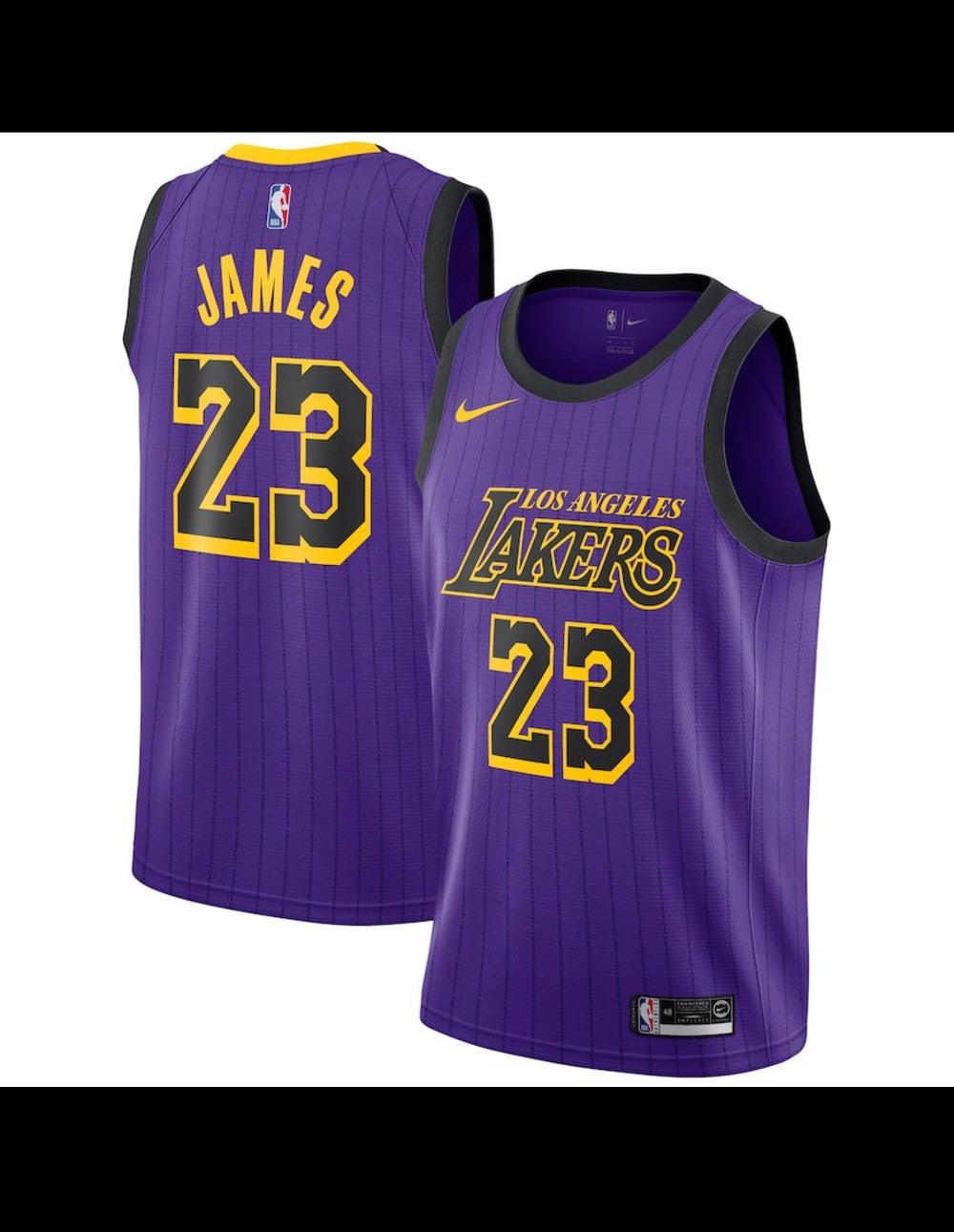 Image of Lebron city edition Lakers Jersey