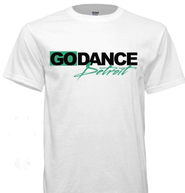 Image of Men's Go Dance Detroit White Tee