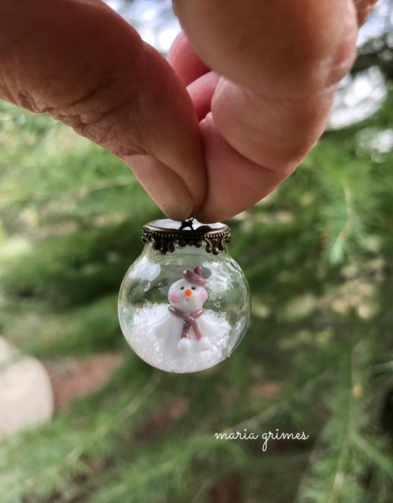 Image of ~SUGARPLUM~ SNOW GLOBE PENDANT