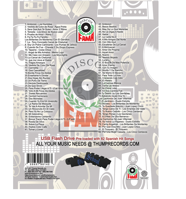 Image of Spanish Fama Records  Pre-Loaded Music USB