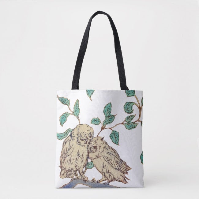 Image of Owl Love tote bag
