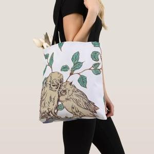 Image of Owl Love tote bag