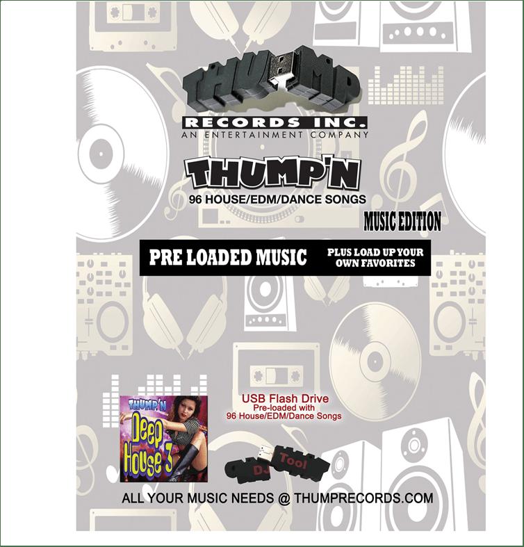 Image of THUMP DANCE  PRE-LOADED MUSIC USB