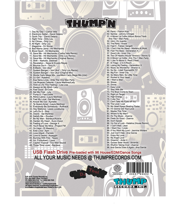 Image of THUMP DANCE  PRE-LOADED MUSIC USB