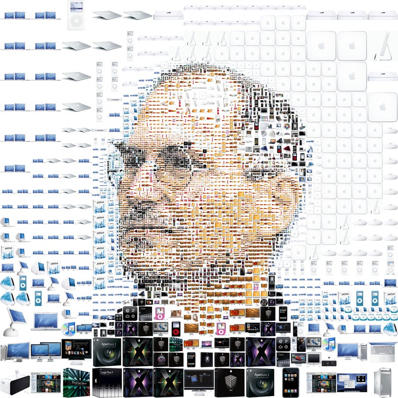 Image of The trouble with Steve Jobs (white)