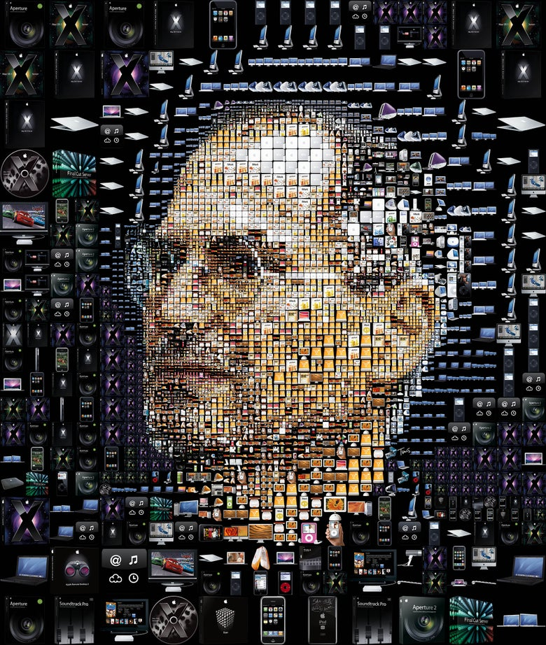 Image of The trouble with Steve Jobs (black)