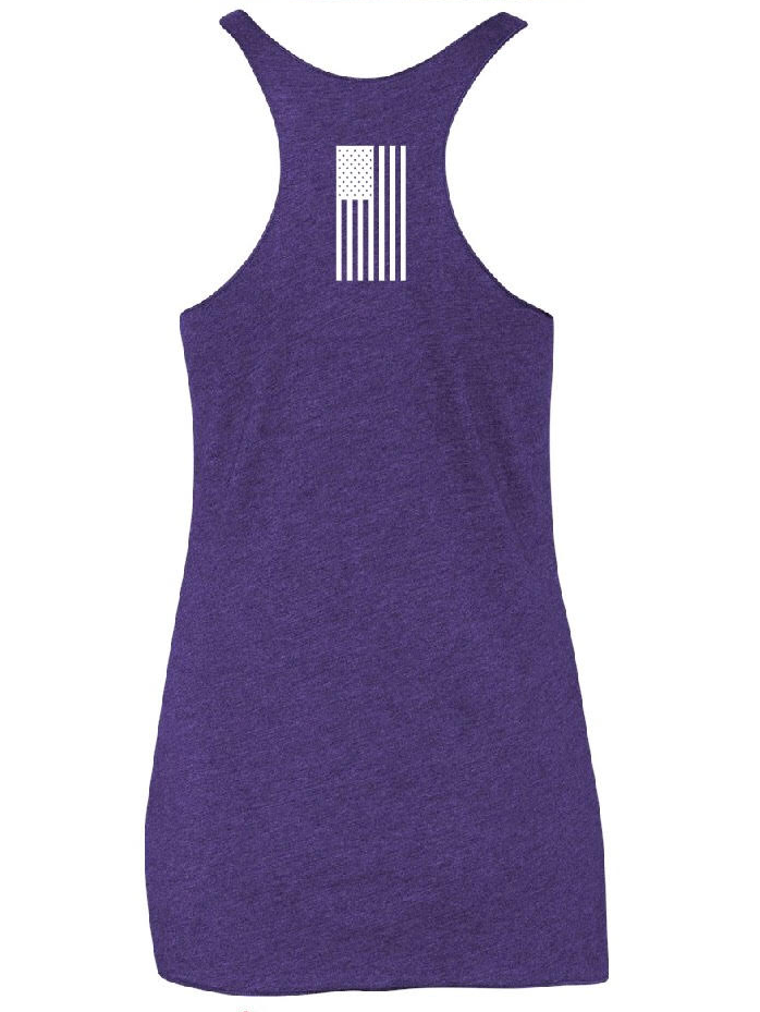 "Image of The ""X"" Line - Purple/White Racer Back Tank"