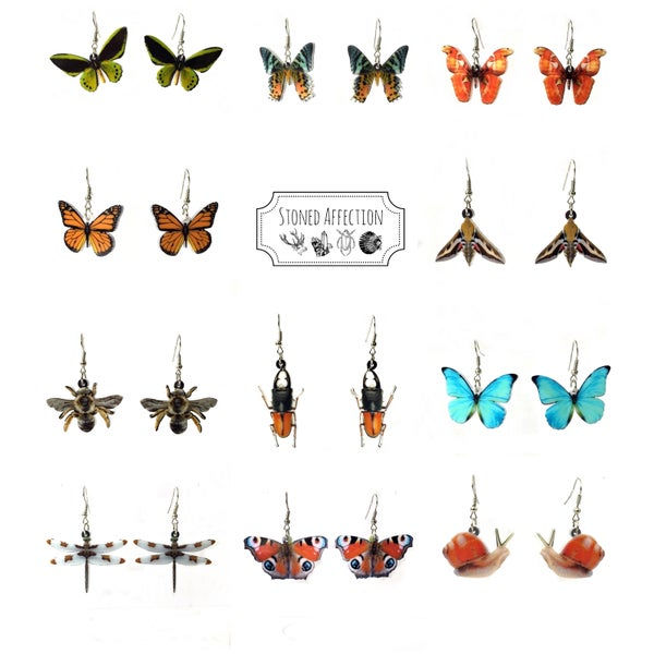 Image of Beautiful Critters Acrylic Earrings