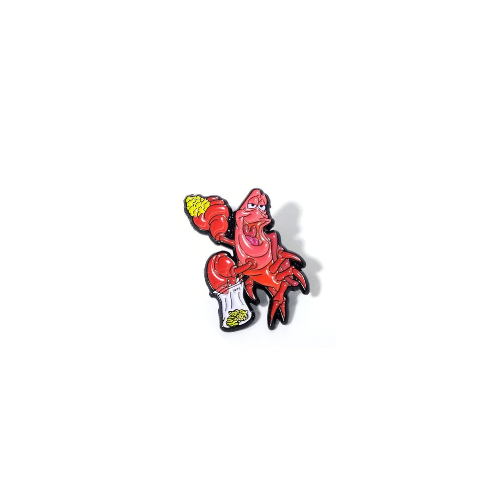 Image of Weed Crab lapel pin