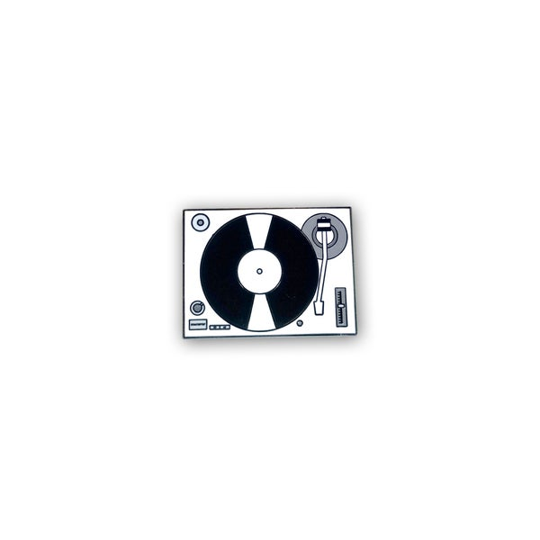 Image of Record Player / Turntable (Black) lapel pin