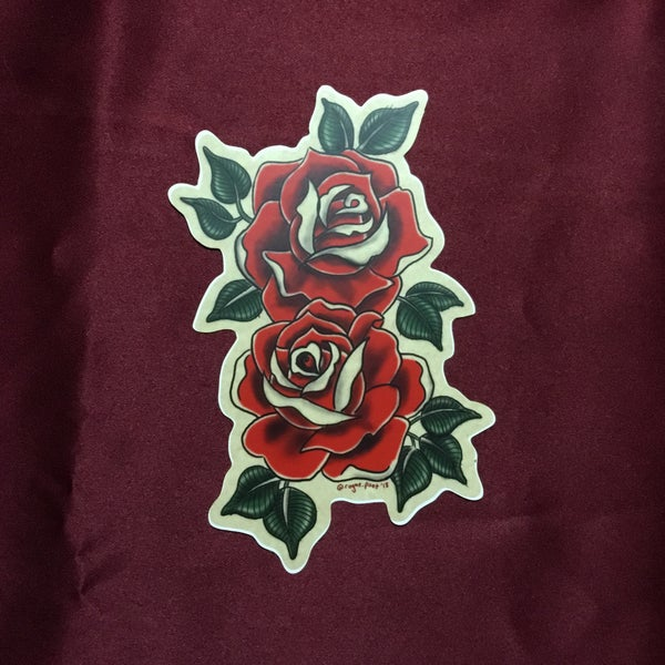 Image of Two Roses Sticker