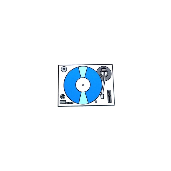 Image of Record Player / Turntable (Blue) lapel pin