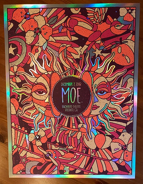 Image of MOE. Night 1 Rainbow Foil Variant ATL 2018