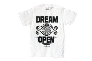 "Image of Classic ""DREAM with your eyes OPEN"" TEE (Whitel)"