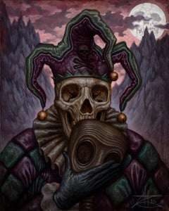 "Image of ""Apocalyptic Jester"" Limited Edition Canvas Giclee- 24x30"
