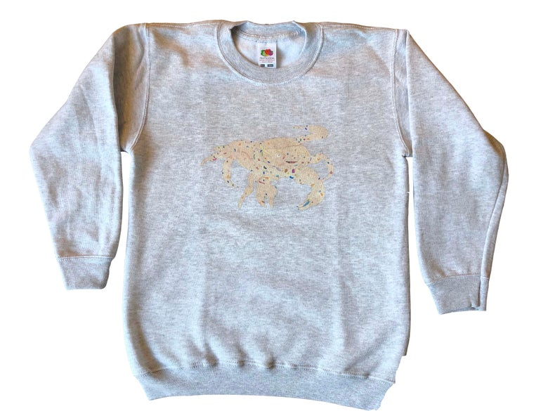 Image of KMAdotcom Nicholas' Sweatshirt Crab on Grey