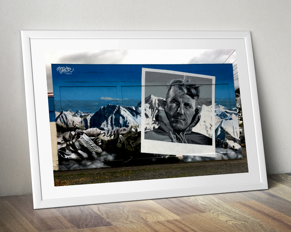 Image of Sir Edmund Hillary Mural Art Print
