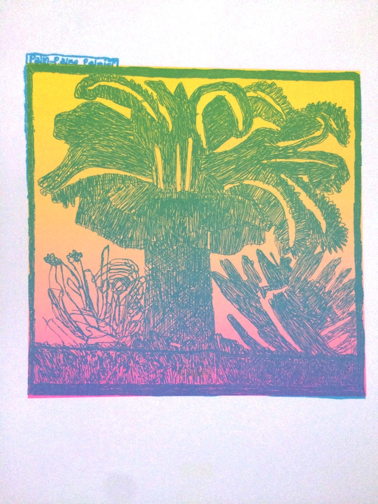 Image of KMAdotcom Alan's 'Palm-Palmo Palmier' A3 Risograph Print