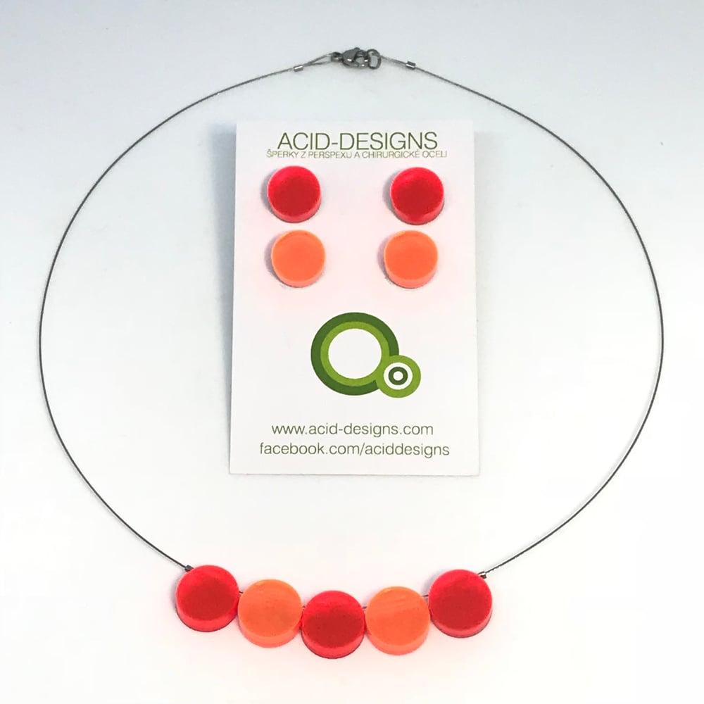 Image of Náhrdelník Circle oranžovo -fluorescentní oranžový
