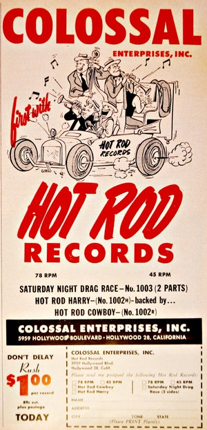 Hot Rod Records T-Shirt - Long Sleeves, Too!