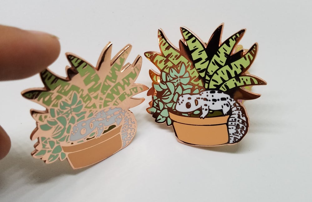 Image of Succulent Gecko Pin
