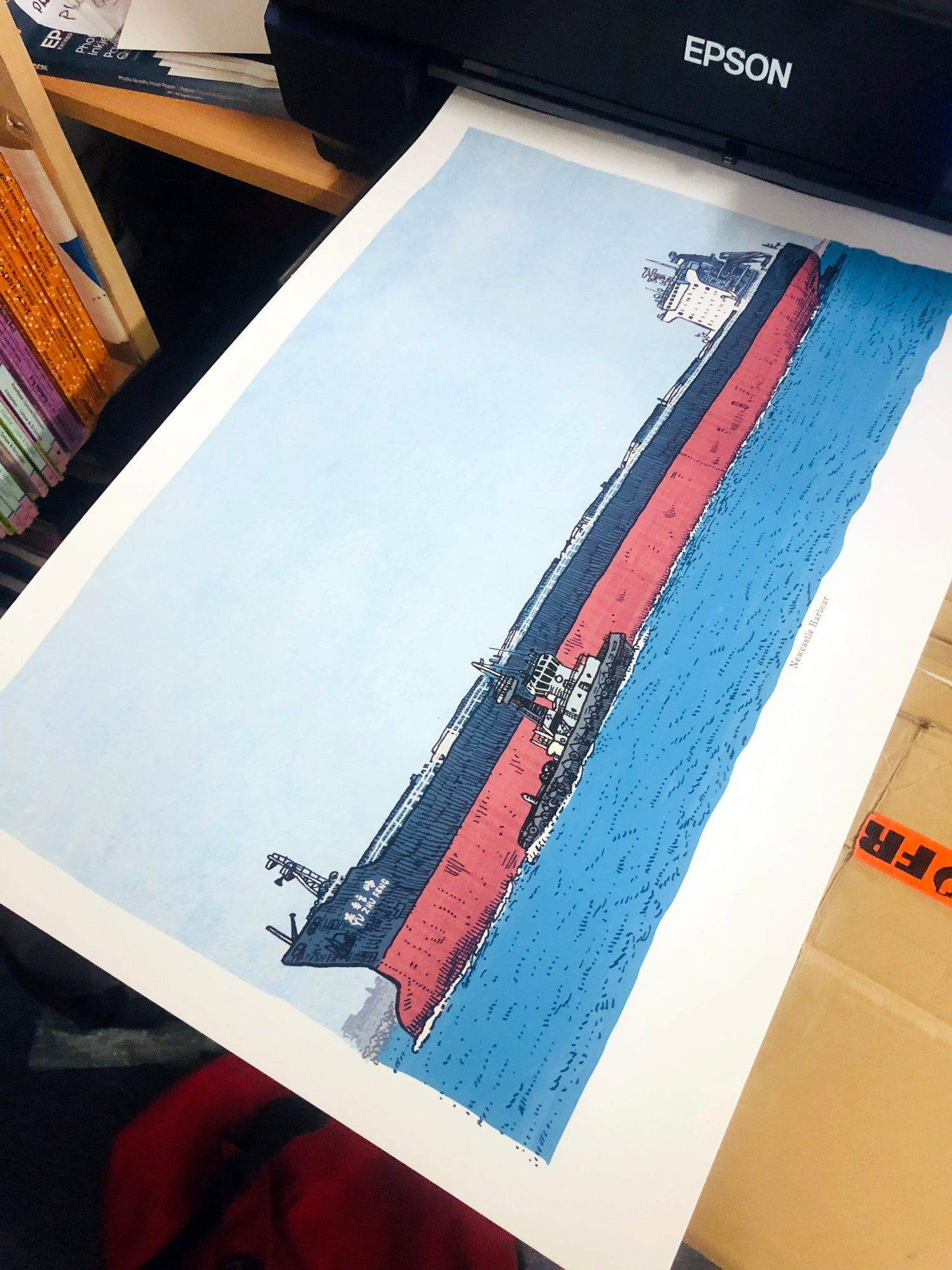 Image of Newcastle Harbour Limited Edition Digital Print