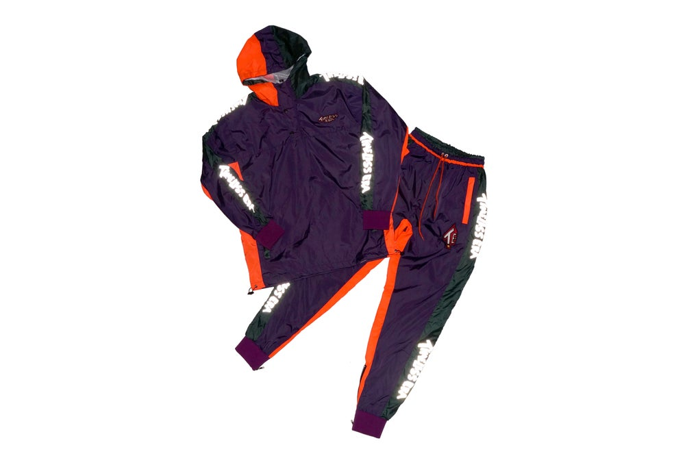 Image of Purple/Green/Orange 3M Tracksuit