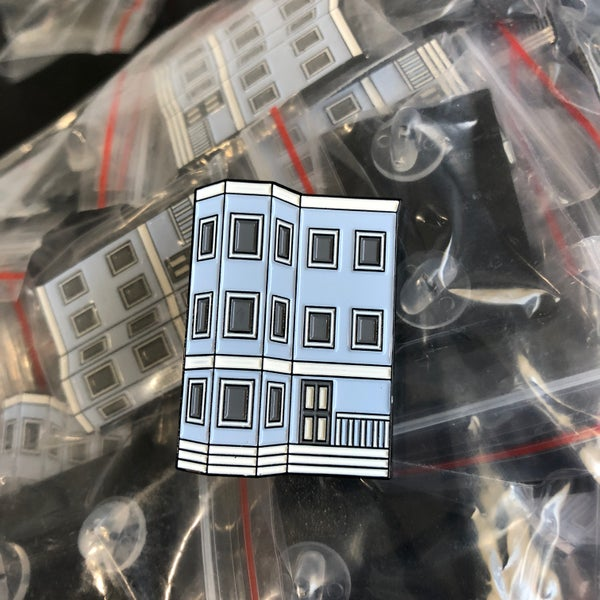 Image of Blue Triple-Decker Enamel Pin