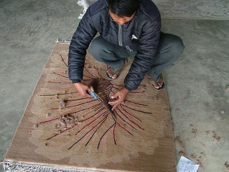 "Image of ""Cave Rug"" Handmade in Nepal"