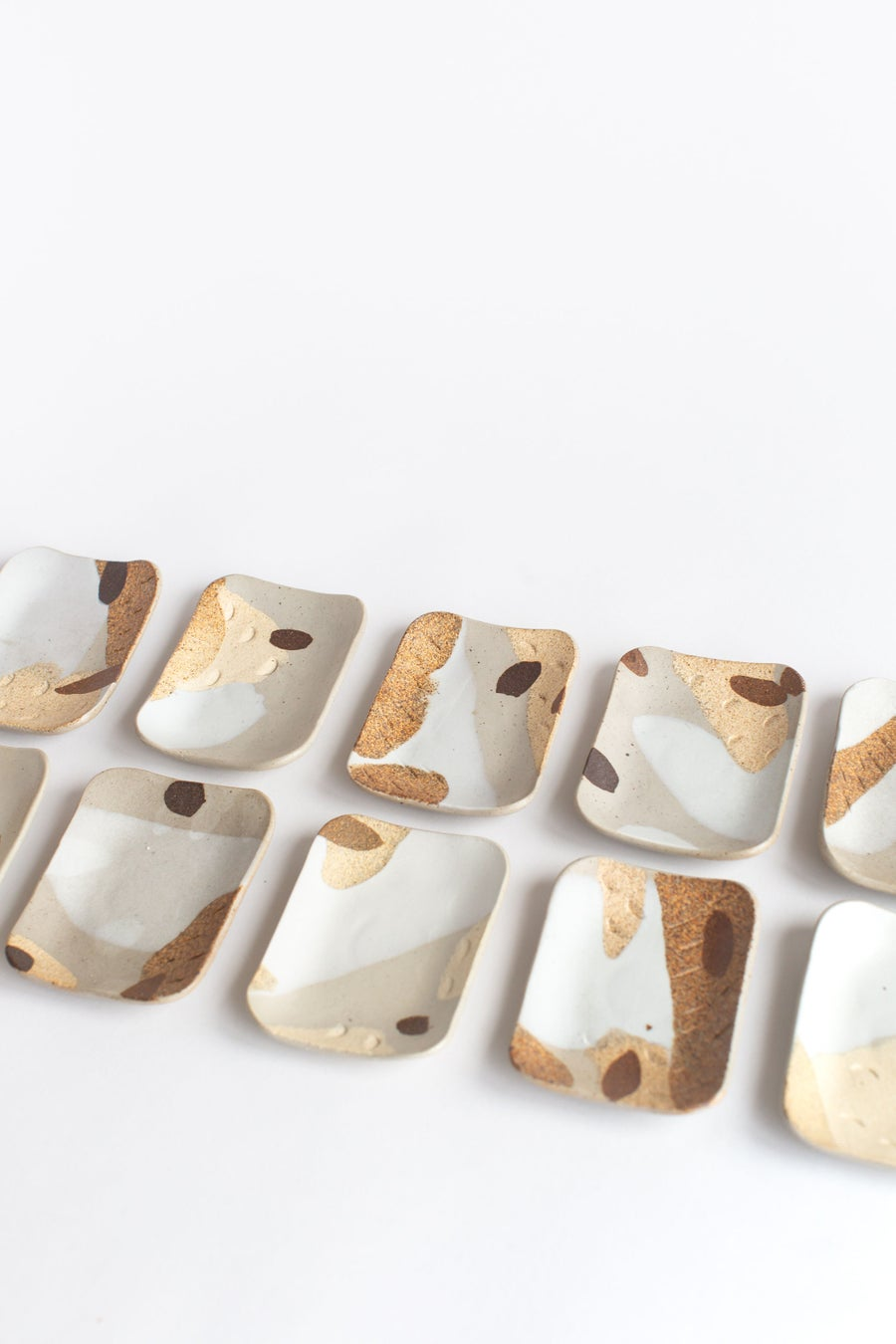 Image of Natural Sand Porcelain Inlay Soap Dishes