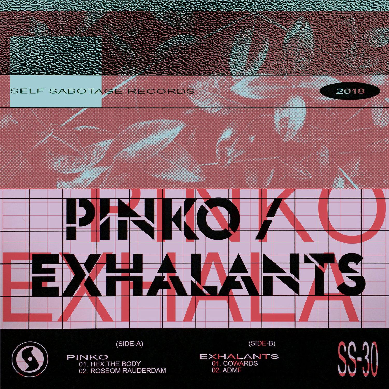 """Image of P I N K O / exhalants split 7"""""""