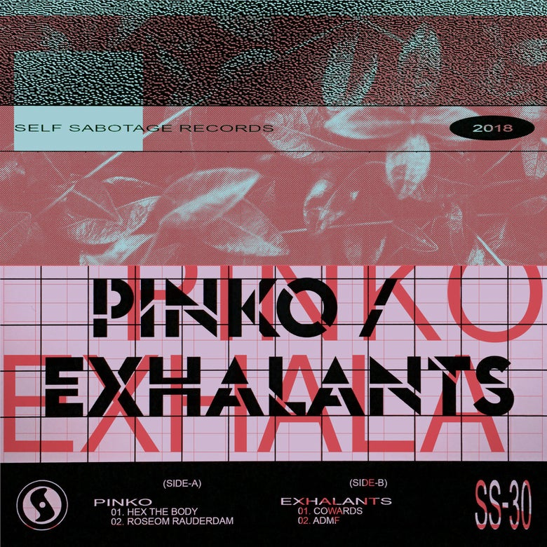 Image of P I N K O / exhalants split 7""